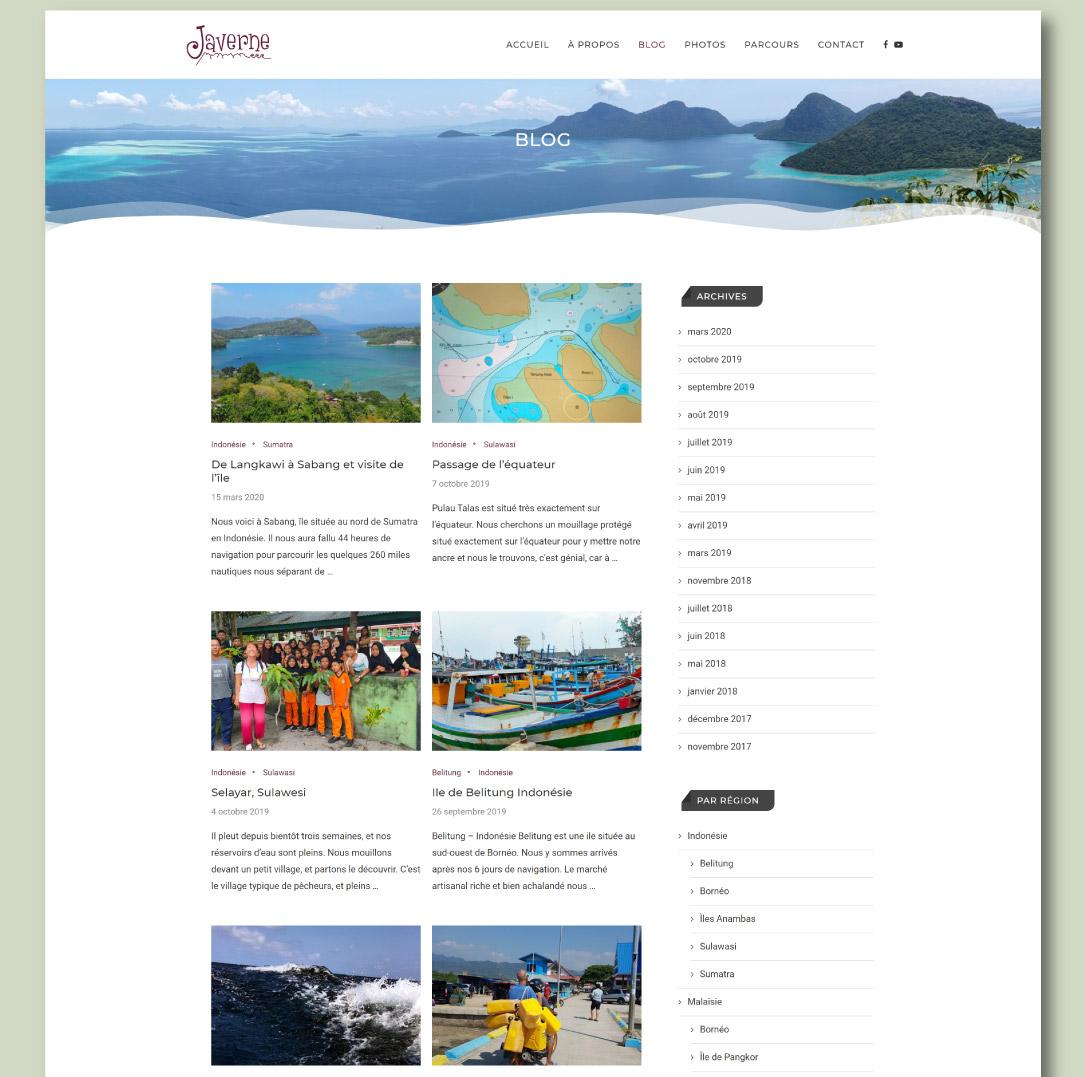 Création d'un blog de voyage