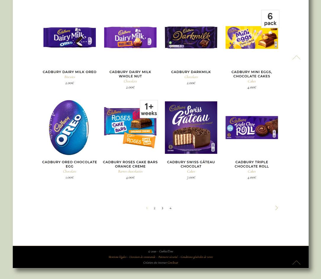 Site e-commerce de produits alimentaires