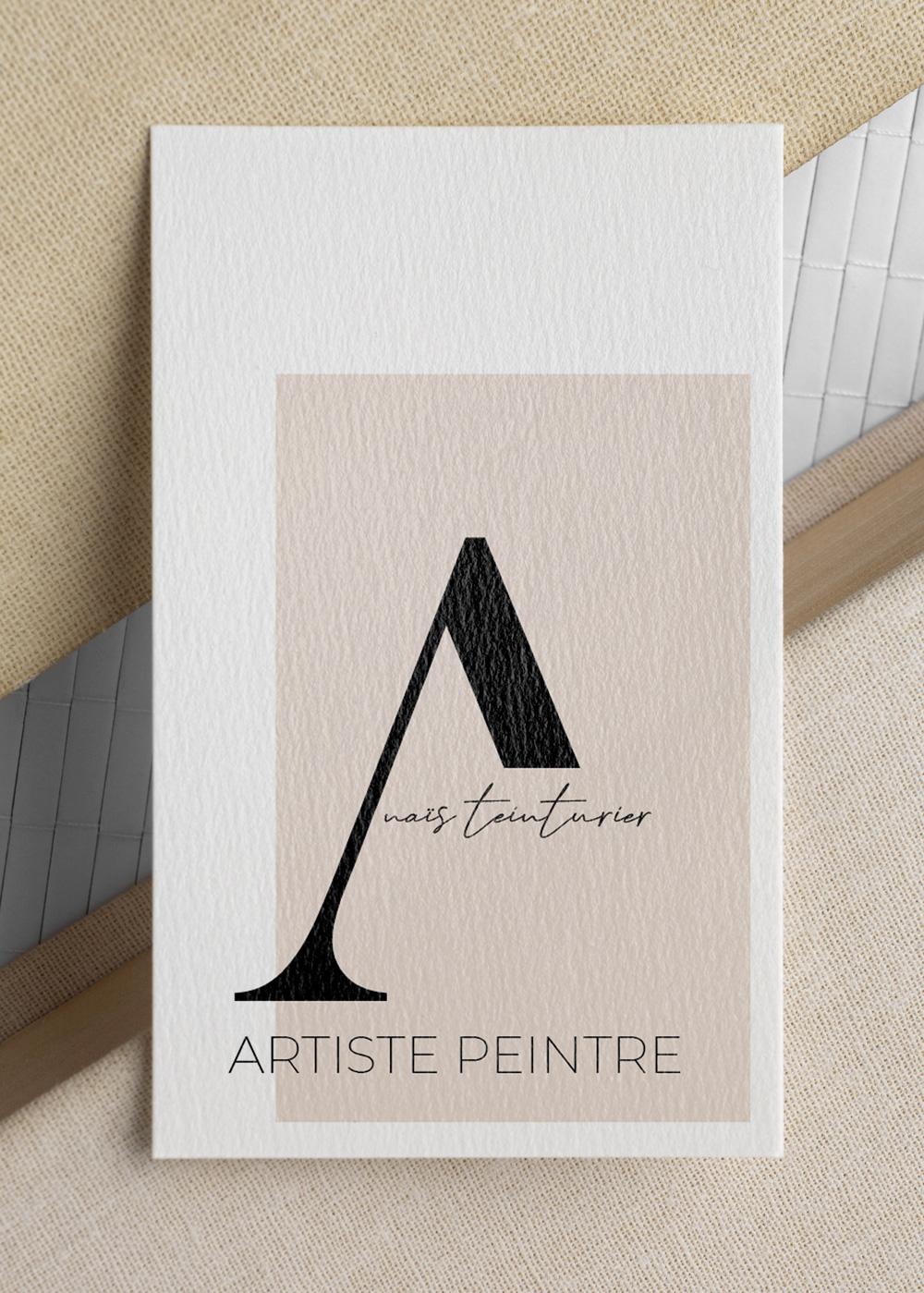 Création d'un logo pour artiste peintre