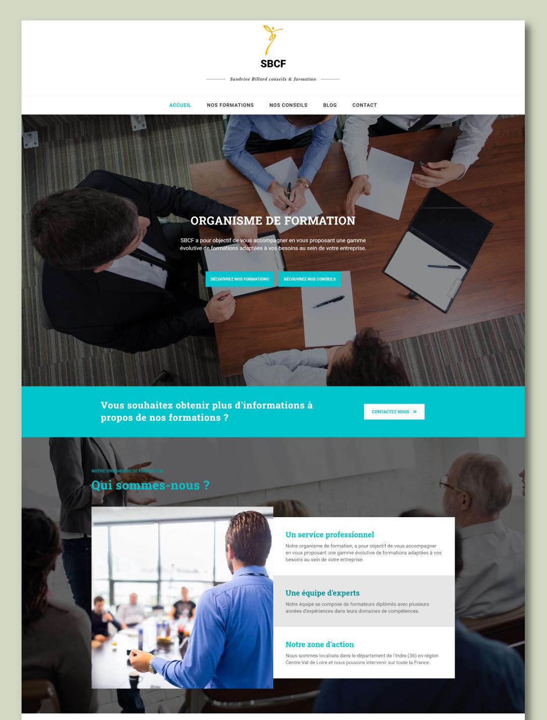 Site internet pour un organisme de formation