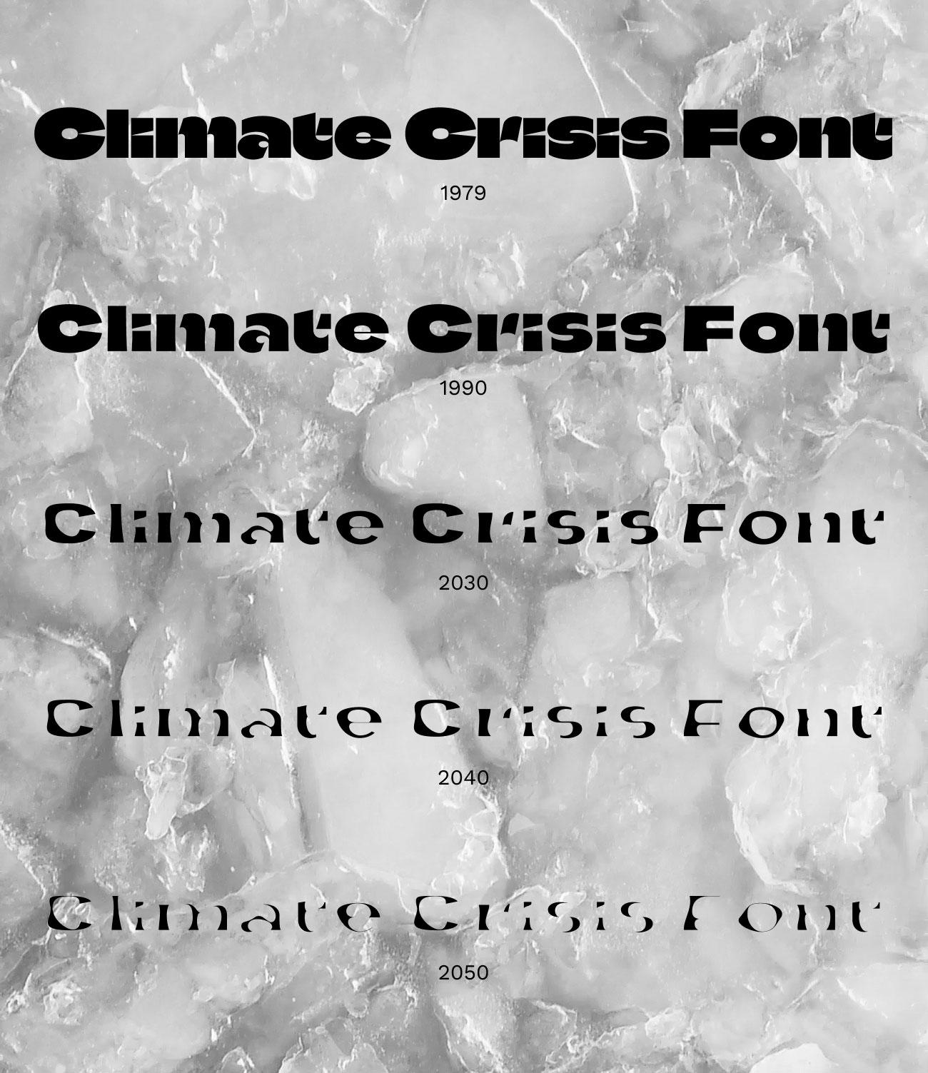 Climate Crisis : une police montrant l'impact du réchauffement climatique