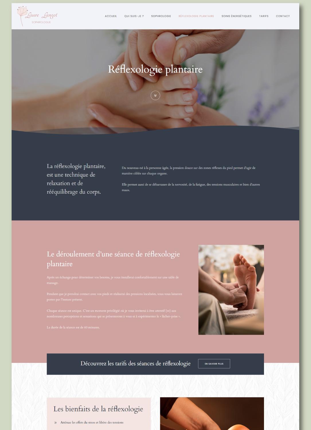 Site internet pour réflexologue