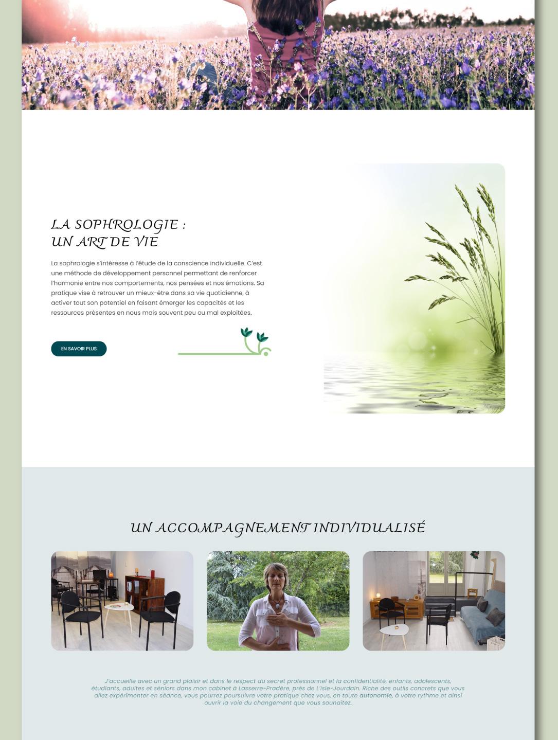 Création d'un site internet pour sophrologue