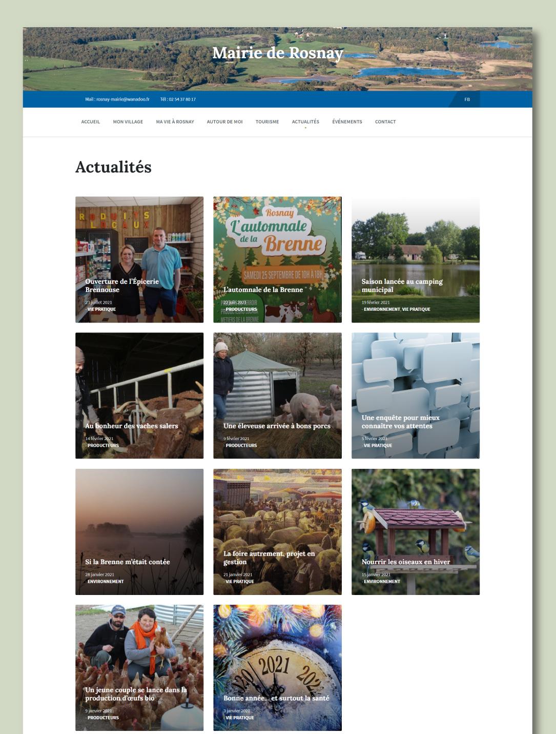 Création d'un site internet pour commune